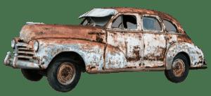 Rusten gammel bil