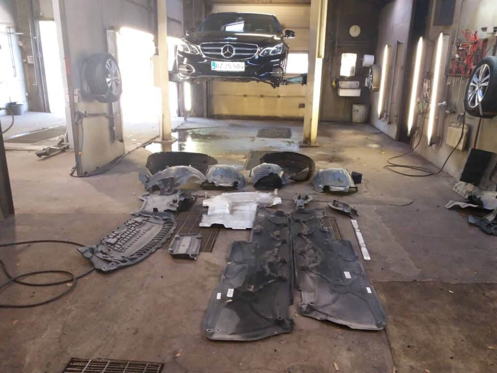 Adskilt undervogn ved rustbeskyttelse